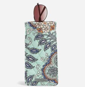 Vera Bradley Sunglasses Sleeve Pouch Case Fan Flowers Signature Cotton MSRP $29