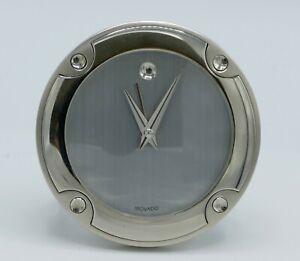 MOVADO DESK CLOCK BOXED-3 INCH DIAMETER