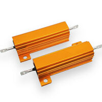US Stock 2x 2.2K ohm 100W Watt Aluminum Housed Metal Case Wirewound Resistors