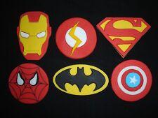 Marvel / superhero handmade cupcake toppers x 6
