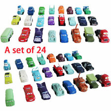 24Pcs Disney Cars Lightning Mcqueen Action Figures Vehicle Cake Decor Topper Toy