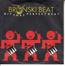 BRONSKI BEAT Hit That Perfect Beat PICTURE SLEEVE 45 record NEW + juke box strip