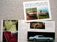 1973 Lincoln-Mercury Brochure:Cougar,Capri,Mon tego,Mk
