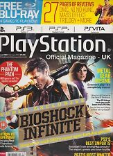 PLAY STATION OFFICIAL MAGAZINE-UK FEB 2013,BIOSHOCK INFINITE SEALED PACK.