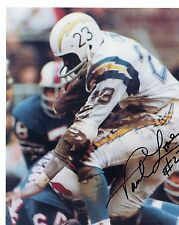 PAUL  LOWE    SAN DIEGO  CHARGERS  SIGNED  AUTOGRAPHED  8X10  PHOTO