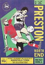 Football Programme>PRESTON NORTH END v MANSFIELD TOWN Nov 1990 FAC