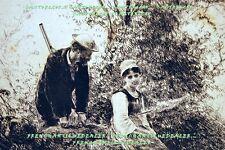 GRAVURE EAU-FORTE fin19è CHASSEUR & BERGERE quenouille RUDAUX & CADART 1880