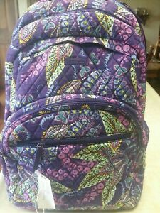 Vera Bradley Essential Large Backpack NWT Batik Leaves