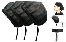 Adjustable Chef Cap Cooking Kitchen Hat Food Service Hair Nets Mesh Brim Reusabl