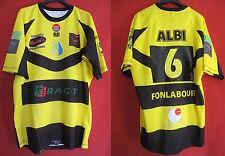 Maillot Albi le Sequestre Rugby shirt Jaune Porté n° 6 - XL
