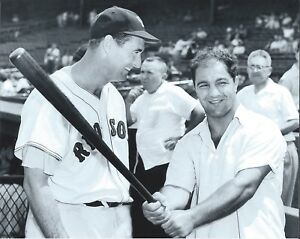 """Ted Williams & Rocky Marciano - 8"""" x 10"""" Photo - 1950's - Boxing - Fenway Park"""