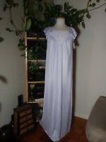 NWT Vintage Lavender Flutter Sleeve Tom Bezduda for Barad & Co Nightgown Sz S
