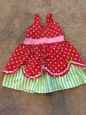 Handmade Strawberry Shortcake Halloween Costume 18/24 Months EUC Toddler Girl