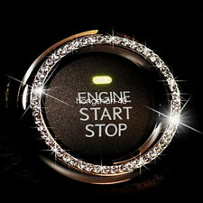 Car Engine Start Stop Push Button Knob Key Switch Decor Bling Ring Accessories