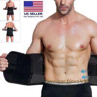 Unisex Women Men's Waist Trainer Shaper Adjustable Support Girdle Belt
