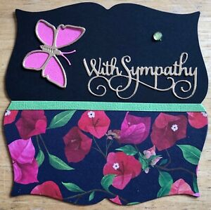 Handmade By Susie Layered Butterfly Sympathy Card Topper FLAT RATE UK P&P