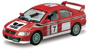 Kinsmart Mitsubishi Lancer Evolution VII WRC Diecast Model Car 1:36 Evo 7 Rallye