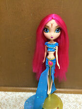 La Dee Da Purple Hair Doll Dressed Indian Outfit Clothes Long Hot Pink Hair
