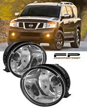 For 2005-2007 Nissan Armada Clear Replacement Fog Light Housing Assembly Pair