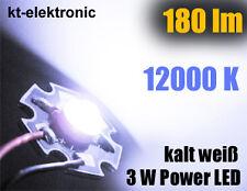 3 Stück Power LED 3W 700mA kalt weiß 180 lm 12000K