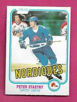 1981-82 OPC # 269 NORDIQUES PETER STASTNY ROOKIE NRMT CARD (INV# D7599)