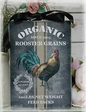 "Vintage ""Rooster Grains"" ~ Shabby Chic ~ Country Cottage style ~ Wall Decor Sign"