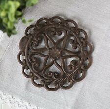 Cast Iron Trivet | Round with Vintage | Pattern Decorative Cast Iron Trivet