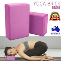 2Pcs Yoga Block Brick Durable Foaming Home Exercise Practice Fitness Gym Sport