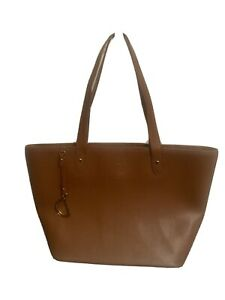 Lauren Ralph Lauren Brown Newbury Tote Shoulder Bag