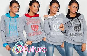 Womens Print Hooded Casual Sweatshirt Hoodie Jumper Pullover Sportswear 8308B