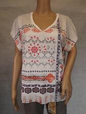 ★ GINA LAURA ★  M  40/42 ~ T-Shirt Shirt ~ ecru offwhite ~ kurzarm mit Print