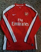 Arsenal 2008 2010 Hogar Camiseta De Fútbol Nike Ls medio Adulto Manga Larga