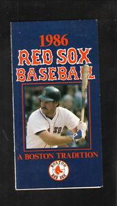 Wade Boggs--Boston Red Sox--1986 Pocket Schedule--Coke