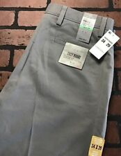 Dockers Easy Khaki Classic Fit Flat Front Pants Gray Men's Size 34 x 29