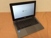 """Acer Chromebook C730E-C555 11.6"""" Celeron 2840U 1.4Ghz 4Gb Ram 16Gb SSD"""