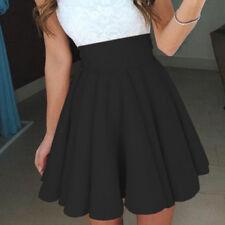 Women Mini Pleated Skirt High Waist Skater Club Dress Casual Short Cocktail