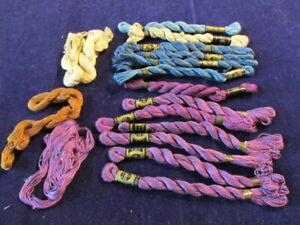 Pearl Cotton Size 5 Purple Blue  Beige 17+pc Lot Lustrous DMC Clark's + SEb