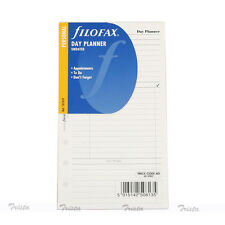Filofax Book Personal Undated Day Planner Diary Notepaper Refill Insert 131319
