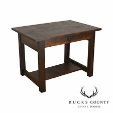 Mission Oak Antique One Drawer Table Writing Desk Possibly Stickley