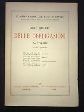 DELLE OBBLIGAZIONI Art. 1754-1812 - AA.vv. - (commentario del codice civile)