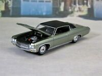1970 70 Chevy Impala Custom Coupe Green 1/64 Scale Collectible / Display Model