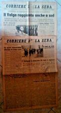 2 GIORNALI, CORRIERE DELLA SERA 11 & 12 SETTEMBRE 1942, ORIGINALI D'EPOCA