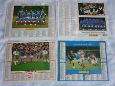 LOT DIVERS 4 CALENDRIERS POSTE FOOTBALL