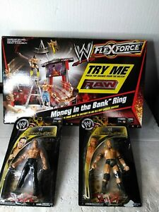 WWE Flexforce Money In The Bank Ring Ladder Playset Triple H & Shawn Working New