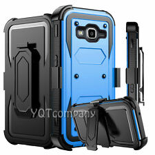 For Samsung Galaxy J3 2016 Box Shockproof Rugged Defender Kickstand Case Cover