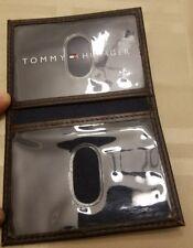 Men's Tommy Hilfiger Card ID Holder Brown Leather NWOT Wallet
