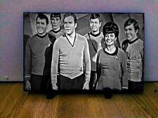 "Star Trek Cast Sketch Art Portrait on Slate 12x8"" Rare memorabilia collectables"