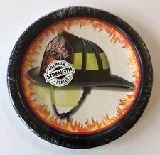 Fire Watch Truck Engine Firefighter Kids Birthday Party Paper Dessert Plates