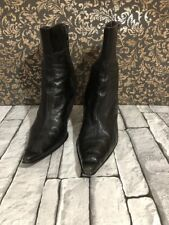 ladies shoes heels NEXT ankle boots real leather black stiletto size 6.5 uk