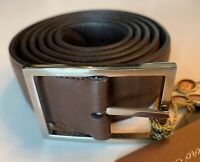 $650 Loro Piana Men's Reversible Brown Leather Belt Size 115/46 Made in Italy